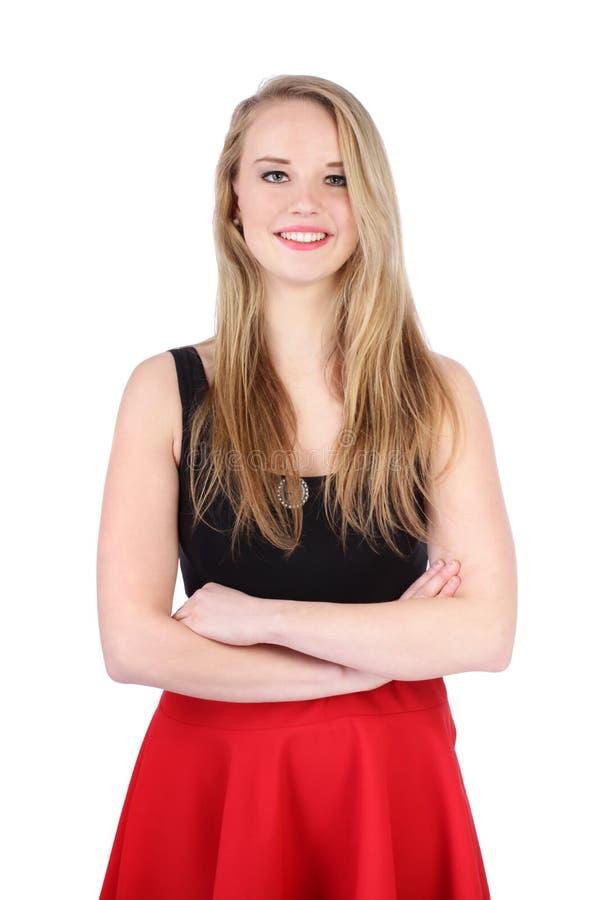 Portret młody nastoletniej dziewczyny pozować zdjęcia stock