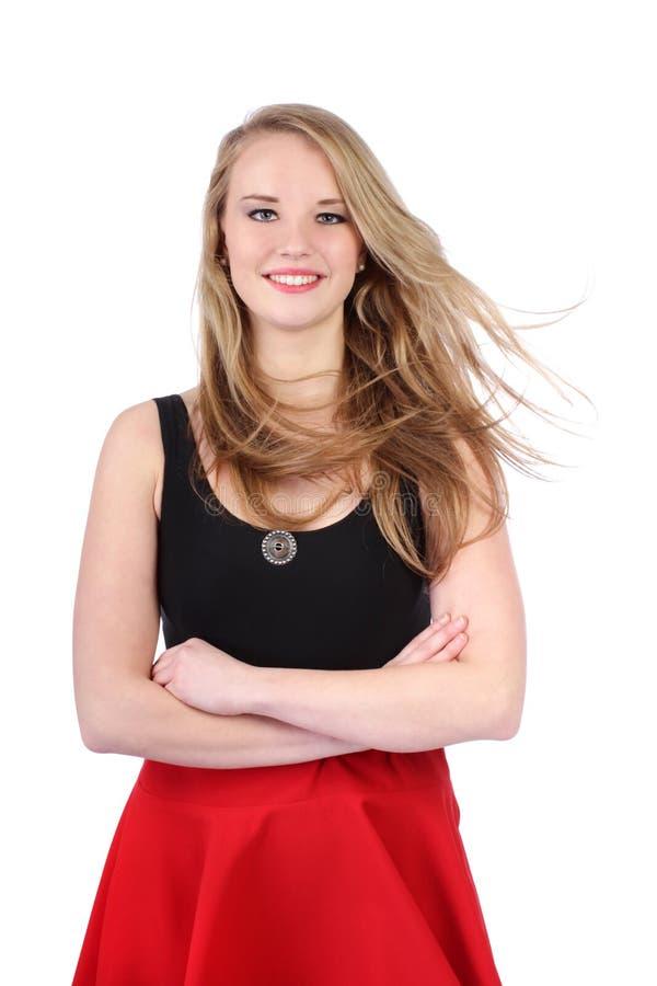 Portret młody nastoletniej dziewczyny pozować zdjęcie stock