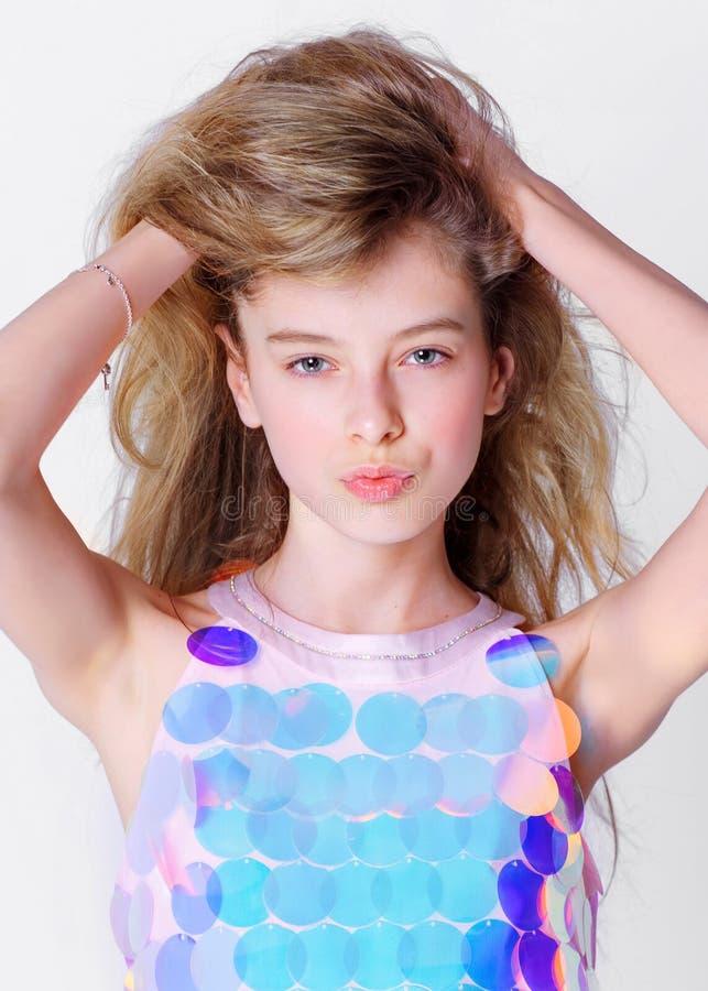 Portret mała wzorcowa dziewczyna fotografia royalty free
