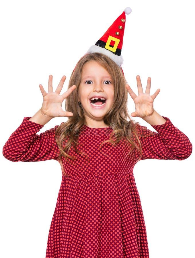 Portret mała Bożenarodzeniowa dziewczyna zdjęcia stock