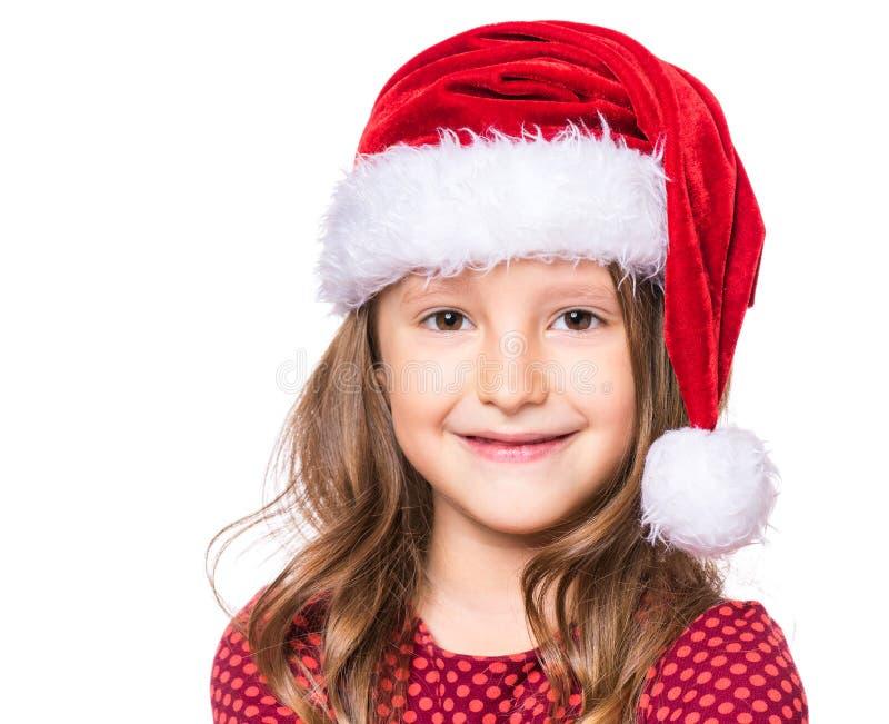 Portret mała Bożenarodzeniowa dziewczyna zdjęcie stock
