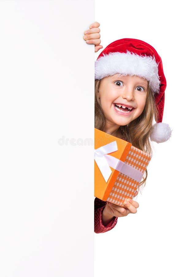 Portret mała Bożenarodzeniowa dziewczyna obrazy stock