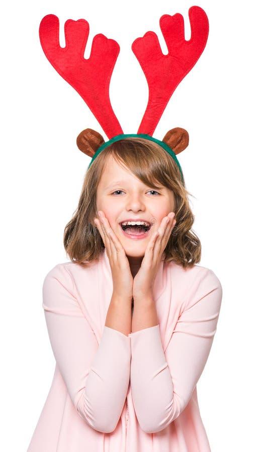 Portret mała Bożenarodzeniowa dziewczyna zdjęcia royalty free
