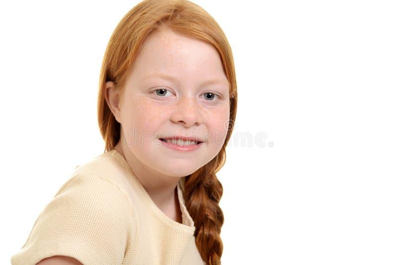 Portret mała czerwona włosiana dziewczyna zdjęcie royalty free
