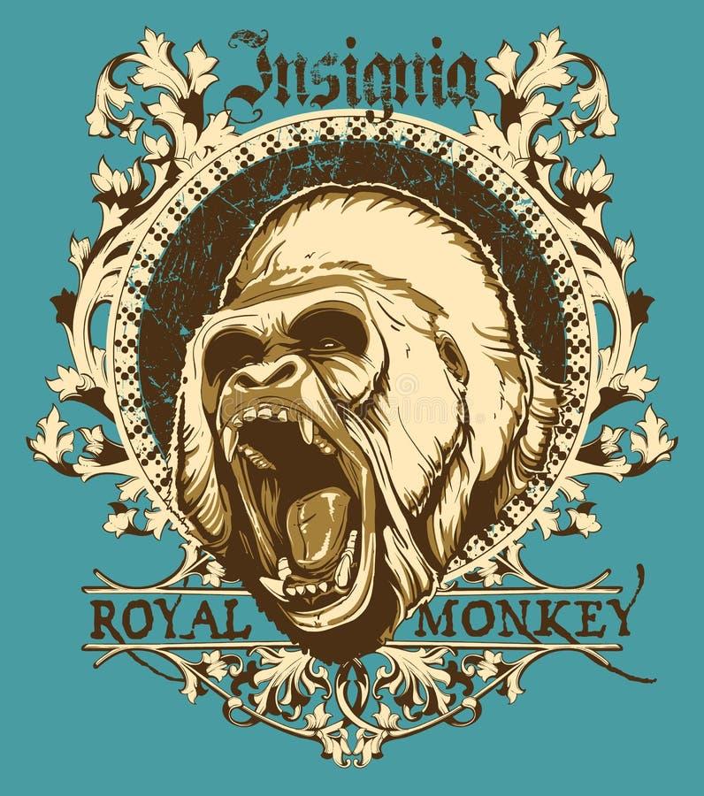 Królewska małpa royalty ilustracja