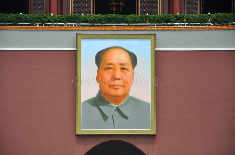 Download Portret Mao Zedong Przy Tiananmen Zdjęcie Stock Editorial - Obraz: 26678908