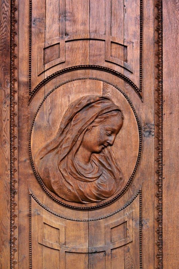 Portret Mary aan de ingang van St. Blasien Dome royalty-vrije stock afbeelding