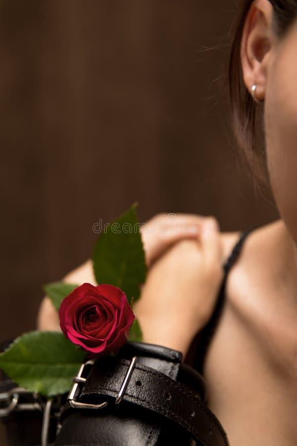 Portret masochista kobieta obrazy stock