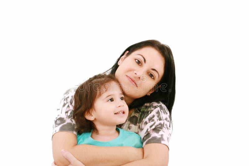 Portret matka i jej dziewczynka zdjęcia stock