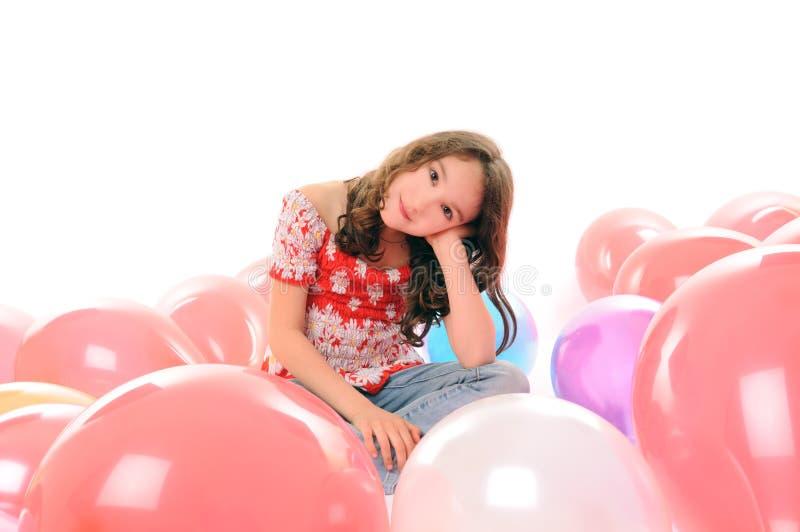 Portret met ballons royalty-vrije stock afbeelding
