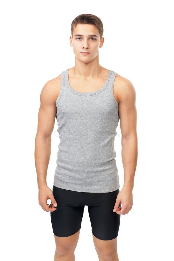 Portret mięśniowy atleta mężczyzna fotografia stock