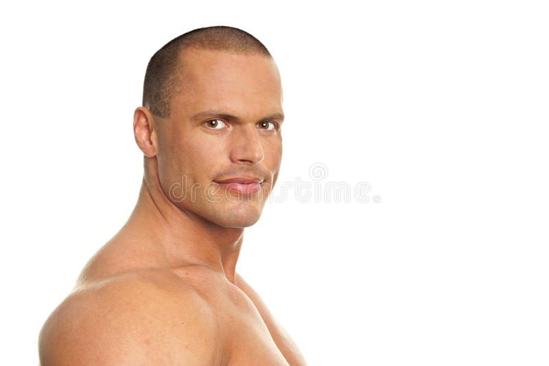 Portret mięśniowy mężczyzna zdjęcia royalty free