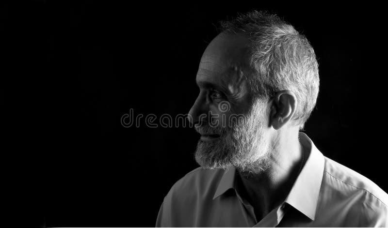 Portret midle starzejący się mężczyzna fotografia royalty free