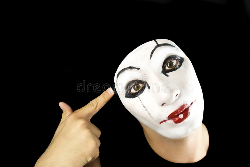 Portret of the mime royalty free stock photography