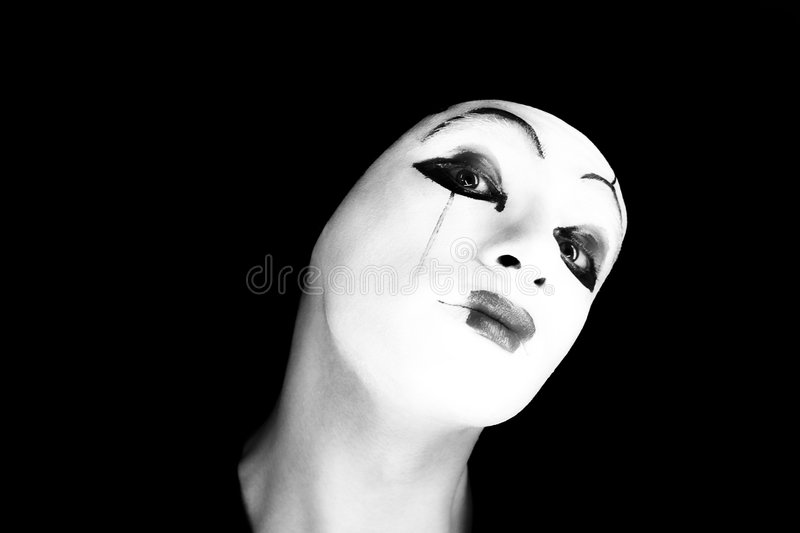 Portret of the mime stock photos