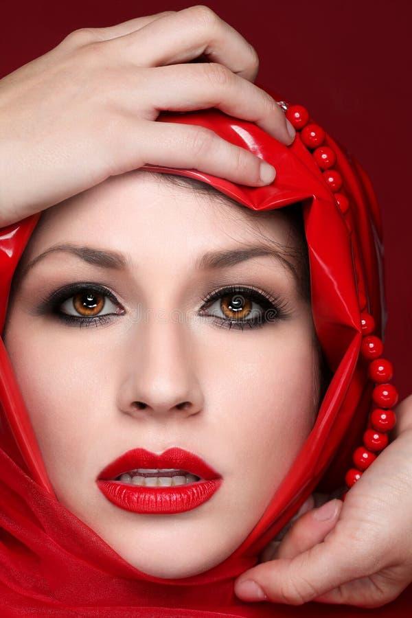 Portret mody piękna dziewczyna zdjęcia stock