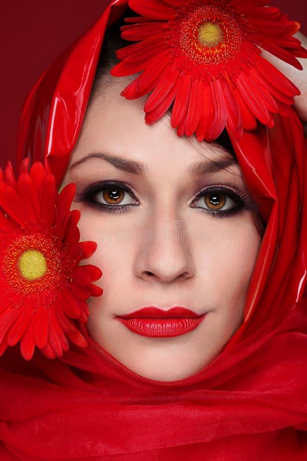 Portret mody piękna dziewczyna obraz royalty free