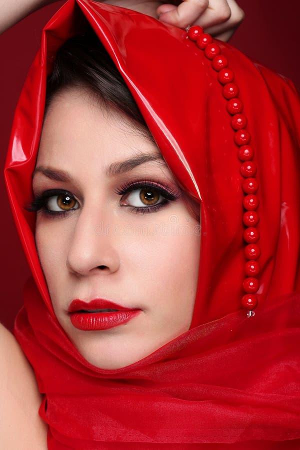 Portret mody piękna dziewczyna obrazy stock