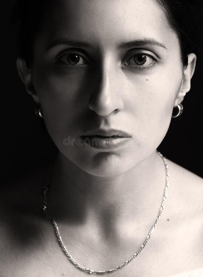 portret monochromatyczna kobieta zdjęcie stock