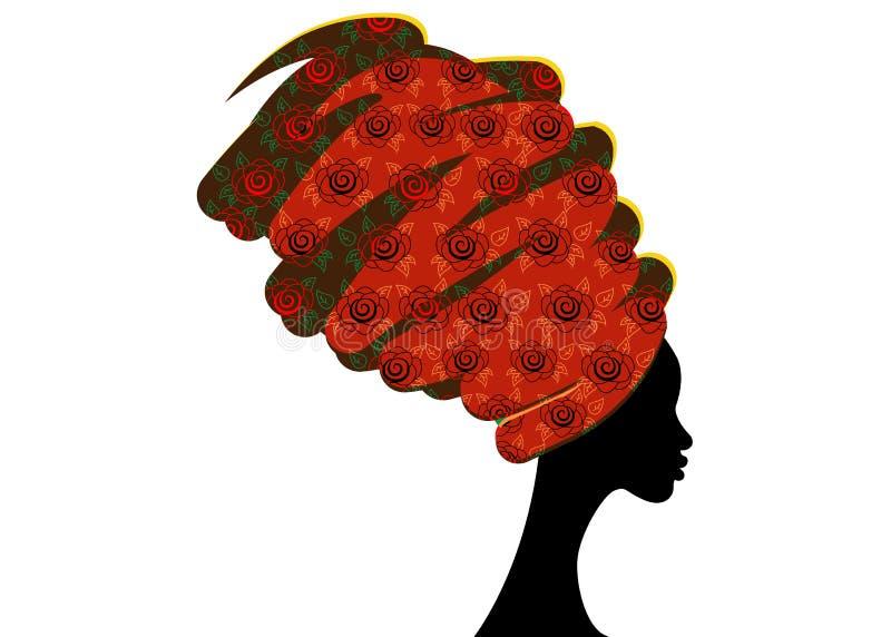 Download Portret Mooie Afrikaanse Vrouw In Traditionele Tulband, Vector Illustratie - Illustratie bestaande uit etnisch, illustratie: 107704379