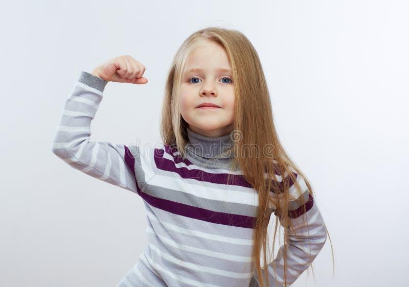 Portret mooie meisje geïsoleerde achtergrond stock afbeeldingen