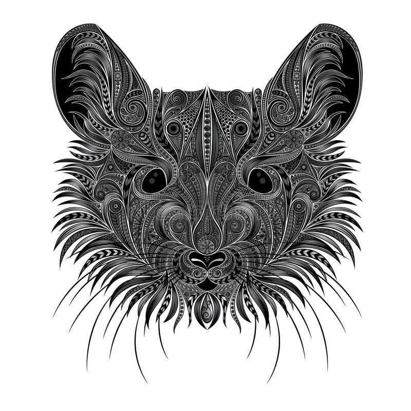 Portret mysz od pięknych wzorów Wektorowa ilustracja dla druku ilustracja wektor