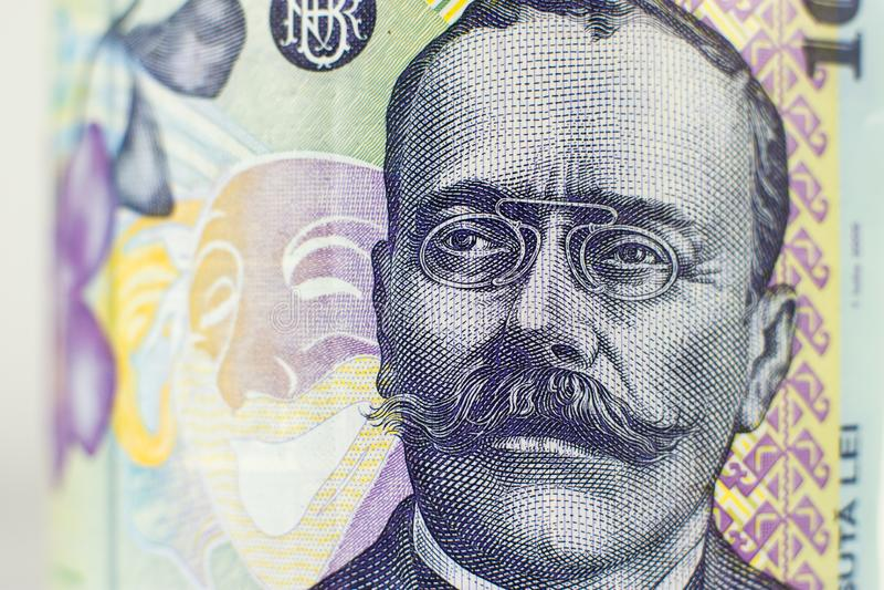 Portret na romanian 100 Lei rachunek zdjęcia stock