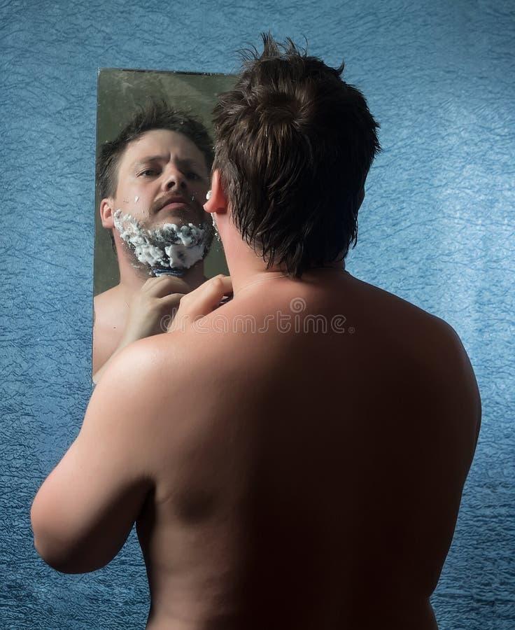 Portret nagi mężczyzna obraz stock