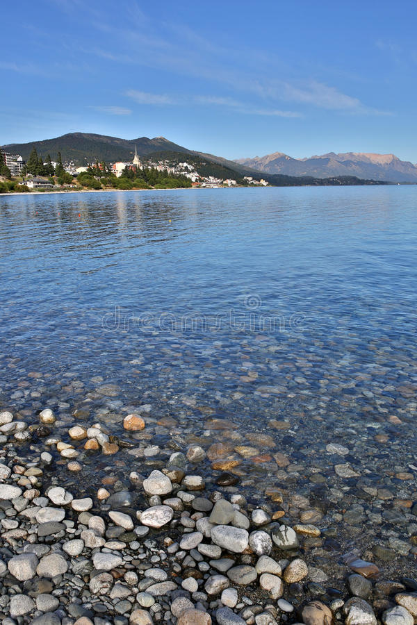 Portret Nahuel Huapi jezioro w Argentyna zdjęcia stock