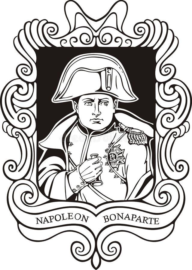 Portret Napoleon Bonaparte ilustracji