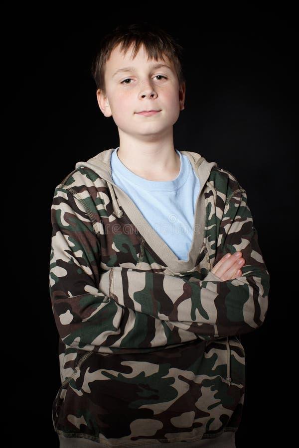 Portret nastoletni chłopak obraz stock