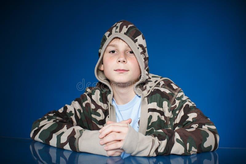 Portret nastoletni chłopak zdjęcia stock
