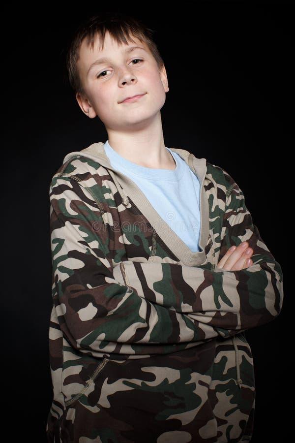 Portret nastoletni chłopak zdjęcie stock