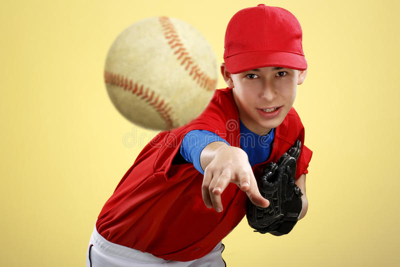 Portret nastoletni gracz baseballa fotografia royalty free