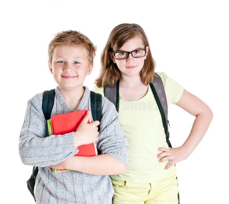 Portret nastoletnia dziewczyna i chłopiec. zdjęcia royalty free