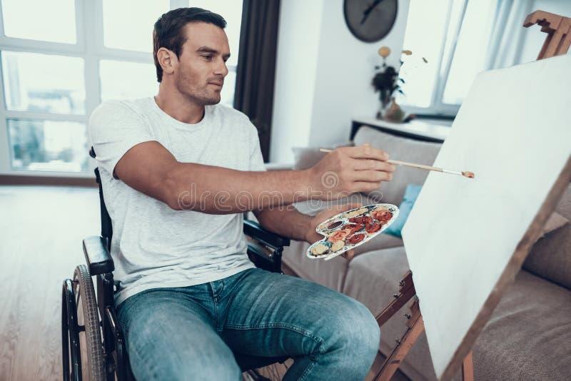Portret Niepełnosprawny młodego człowieka obrazu obrazek obraz royalty free