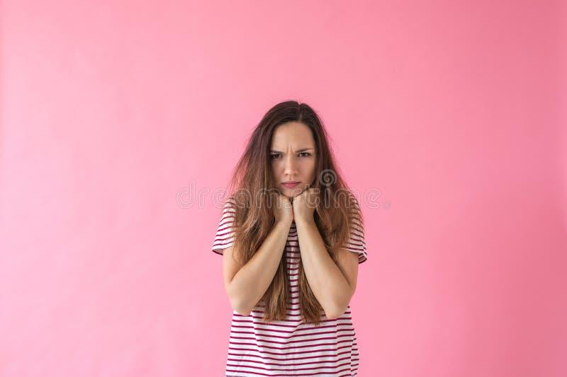 Portret nierada dziewczyna zdjęcia stock