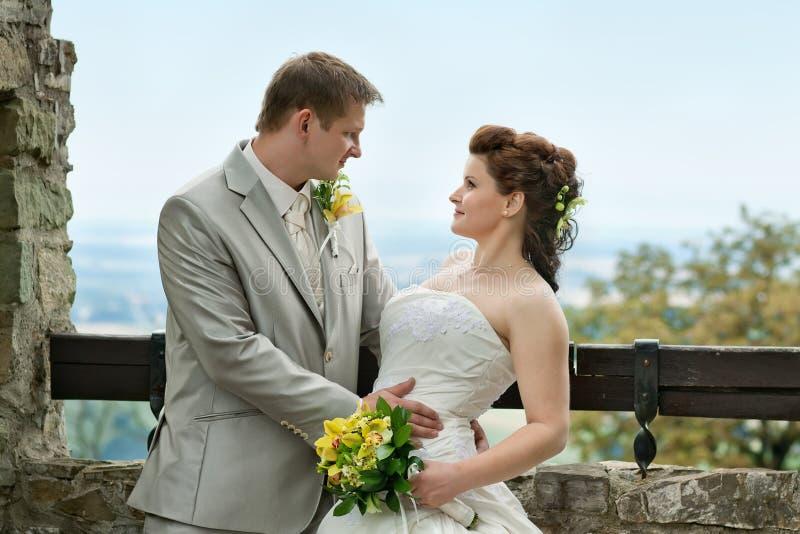 Portret nowożeńcy zdjęcia stock