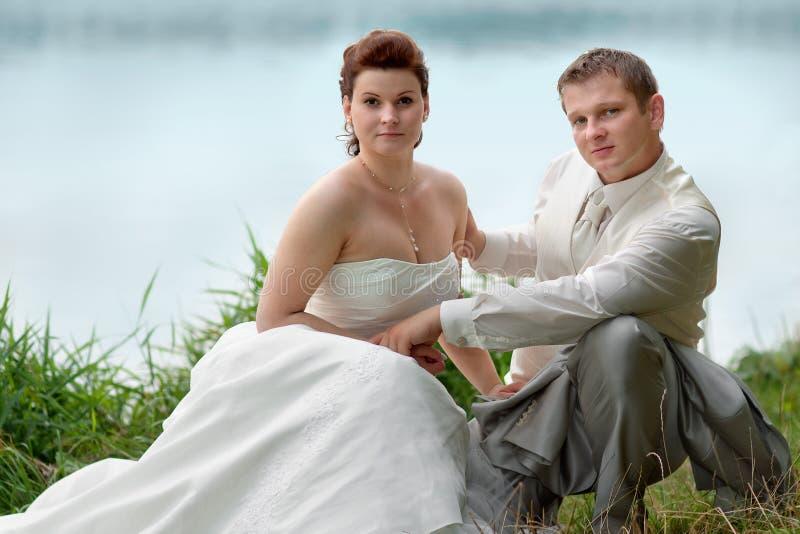 Portret nowożeńcy zdjęcie stock