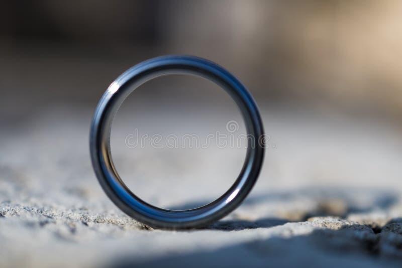 Portret obrączka ślubna zdjęcie stock