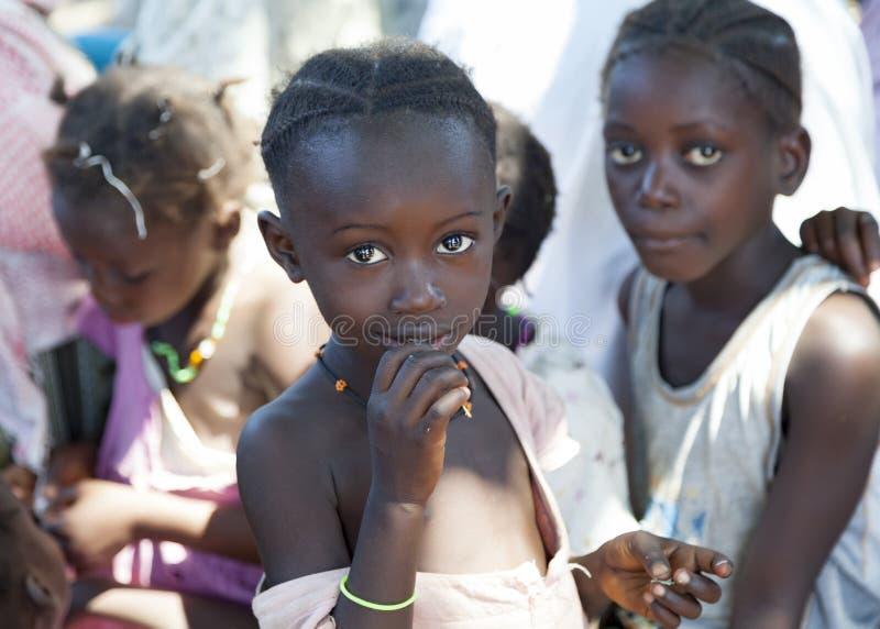 Portret op Afrikaanse kinderen royalty-vrije stock afbeeldingen