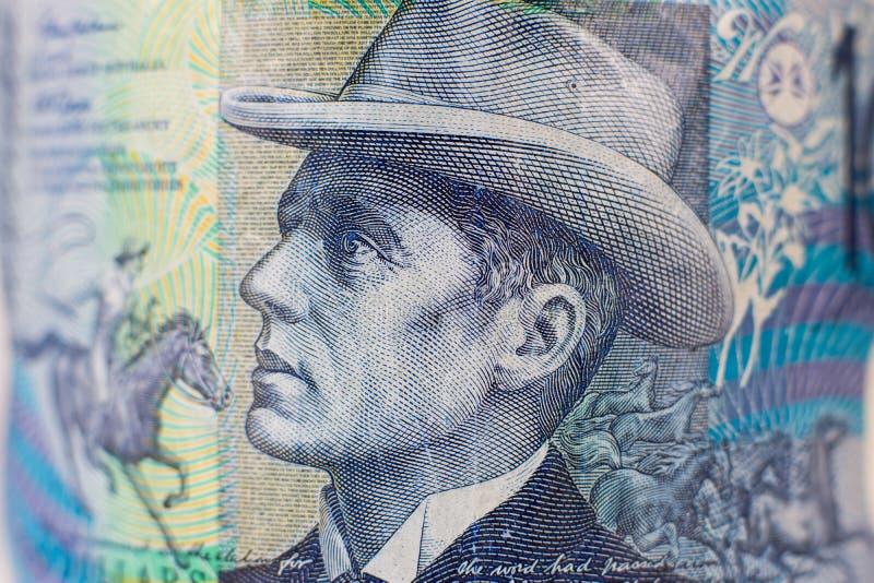 Portret op 10 de Australische rekening van het Dollargeld royalty-vrije stock foto's