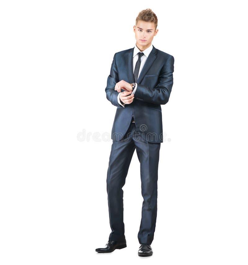 Portret op de jonge knappe mens royalty-vrije stock foto