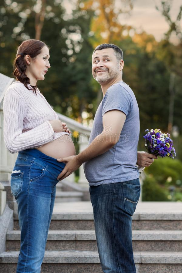 Portret para małżeńska fotografia stock