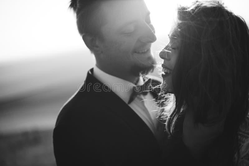 Portret pary, czułości miłości natura zdjęcia royalty free