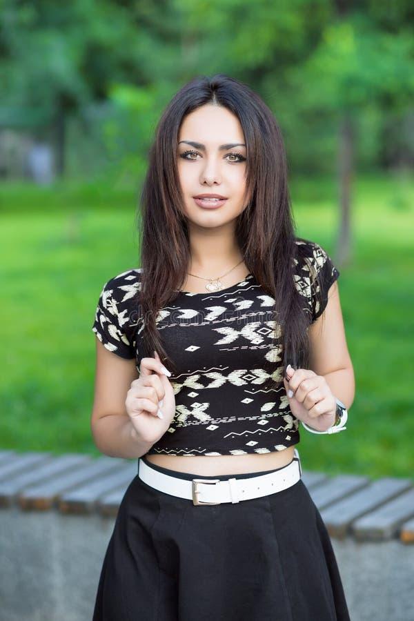 Portret perfect brunetka obrazy stock