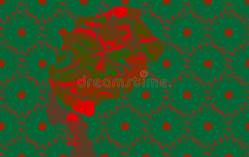 Portret piękna Afrykańska kobieta w tradycyjnym turbanie, profil kobiety sylwetka Piękna pojęcia loga szablon wektor royalty ilustracja