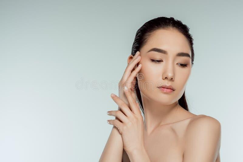 portret piękna czuła azjatykcia dziewczyna zdjęcie royalty free