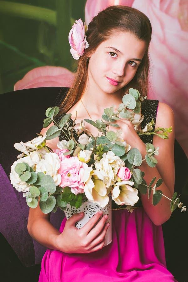 Portret piękna dziewczyna Europejski pojawienie obraz royalty free