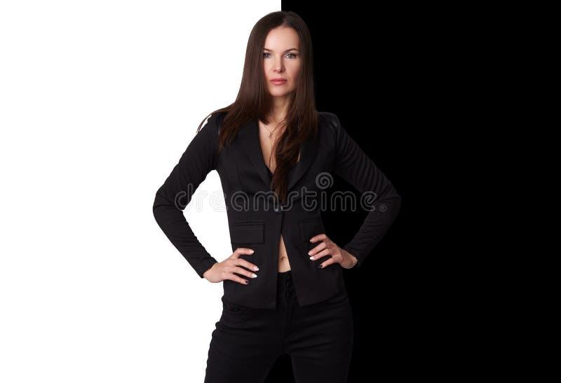 Portret piękna elegancka kobieta zdjęcia royalty free